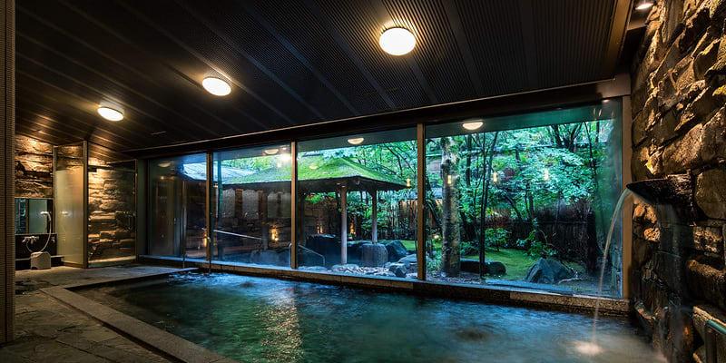 Japonské termální lázně onsen (zdroj: Nishimuraya Kinosaki Onsen, CC BY 2.0)