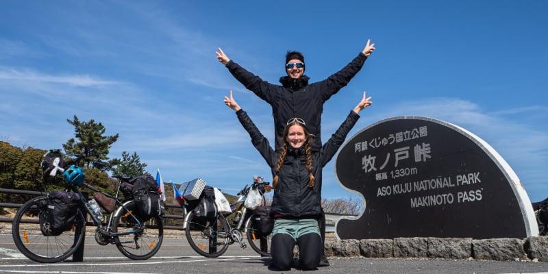 Zuzana a Michal projeli i národní park Aso-Kuju na ostrově Kjúšú (zdroj: manželé Cabejskovi)