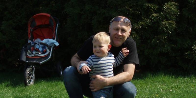 Radovan se svým otcem Janem (zdroj: Jan Sokol)