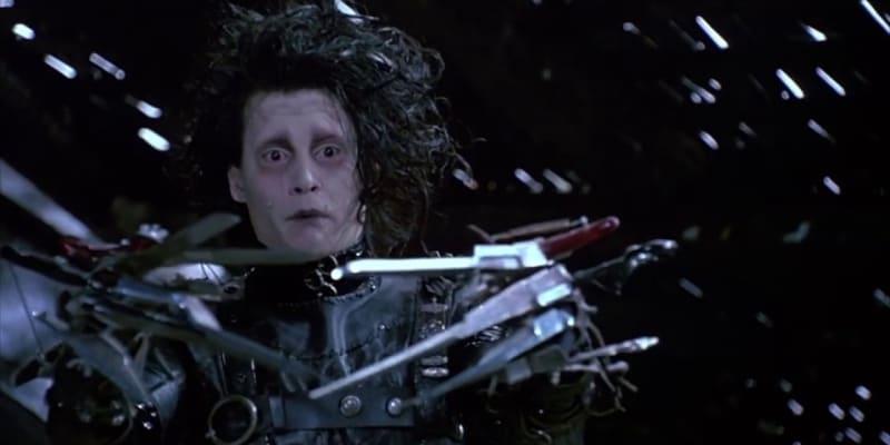 Střihoruký Edward je dílo Tima Burtona.