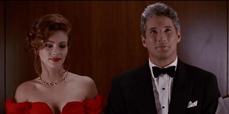 V Pretty Woman hráli hlavní role Julia Robertsová a Richard Gere.