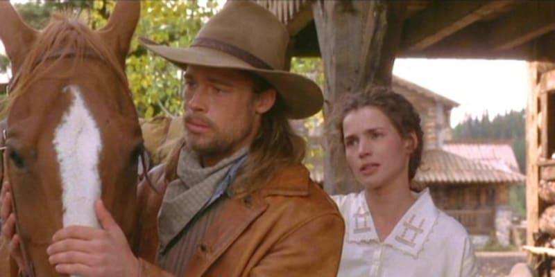 Brad Pitt si v Legendě o vášni zahrál divokého Tristana.