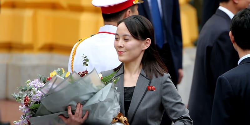 Kim Jo-čong během uvítací ceremonie v Prezidentském paláci v Hanoji, březen 2019.