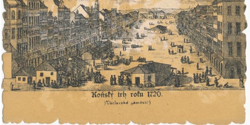 Pohled na Koňský trh od Můstku, v pozadí Koňská brána (profimedia.cz)