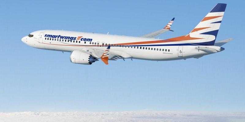 Boeing 737 Max ještě v době, než došlo k plošnému uzemnění tohoto typu letounů.