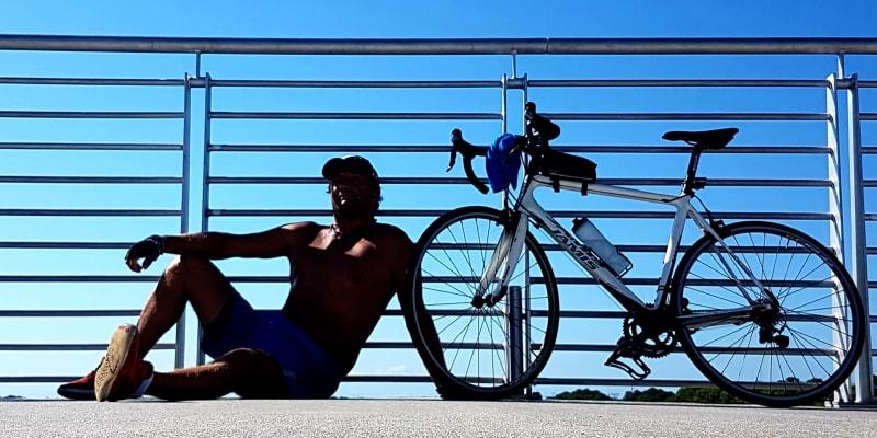 Petr Zoul často jezdí po Floridě na kole.