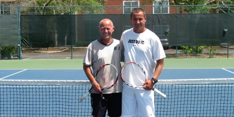 Petr Zoul s trenérem Martinem Fassatim, který pomohl s přivyknutím na americké podmínky.