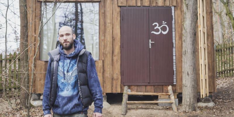 Adam Trnka postavil prototyp minidomku (foto: Adéla Waldhauserová)