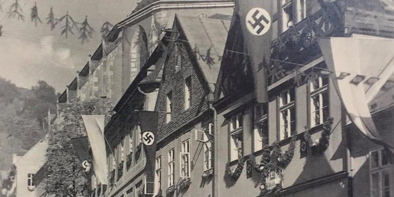 Krupka na Teplicku se vyznačovala rovněž vysokým podílem německého obyvatelstva. Zde foto z ledna 1940