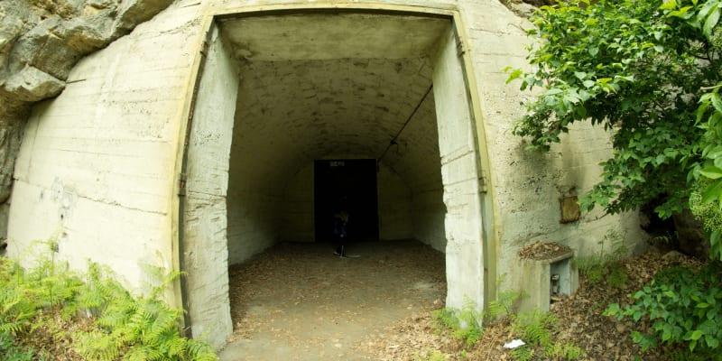 Jeden ze vstupů do rabštejnského podzemí