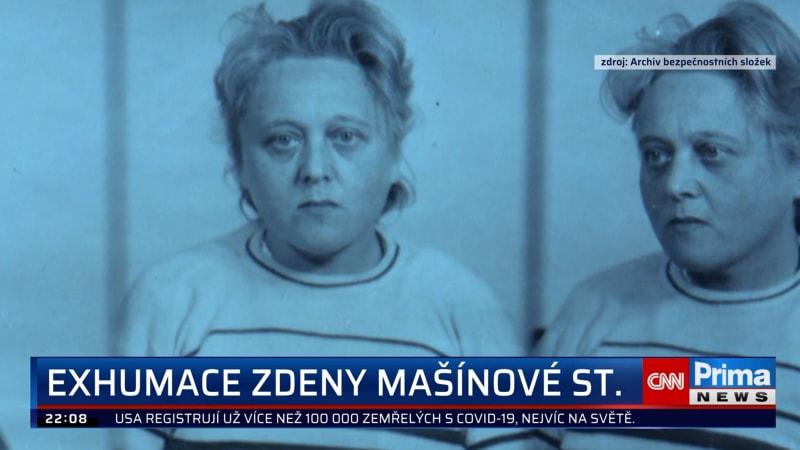 Exhumace Zdeny Mašínové starší má i symbolický význam, míní její dcera