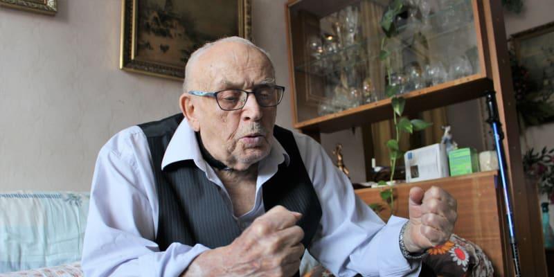 Zdeněk Růžička odsouzený v pobočném procesu se skupinou M. Horákové na 14 let. Foto z loňského února, pár měsíců poté Růžička zemřel.