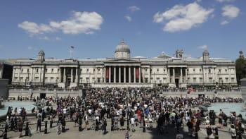 Demonstrace kvůli úmrtí Floyda se konají i v Londýně a dalších evropských městech