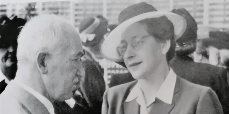 Milada Horáková s Edvardem Benešem