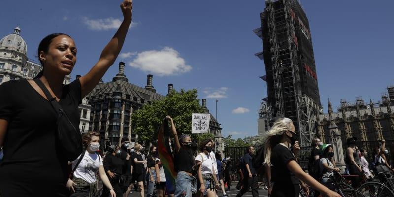George Floyd, protesty, Londýn