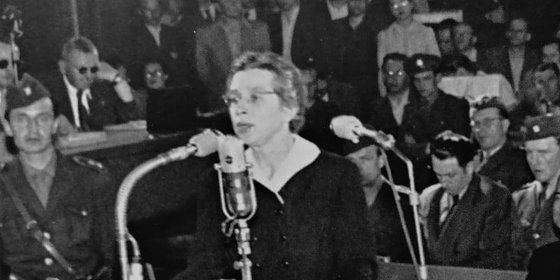 Milada Horáková před soudem