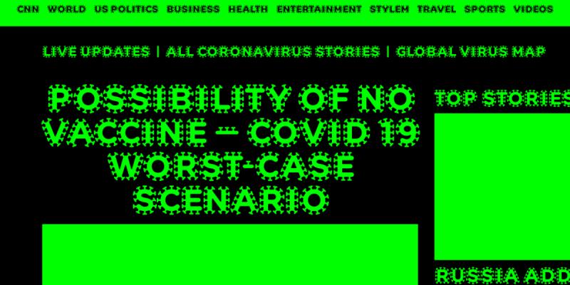 Nové písmo Studia Najbrt s názvem COVID Infected.