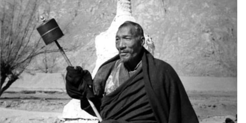 Snímky z Tibetské expedice Ernsta Schäfera – tibetský mnich