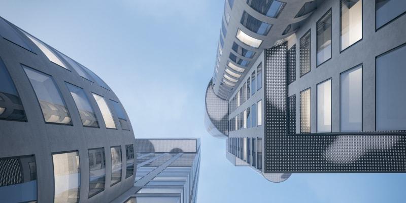 Obchodně administrativní centrum by mělo mít dvě věže.