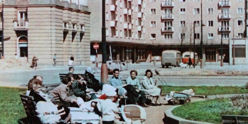 Vzorné socialistické sídliště v Ostravě-Porubě v roce 1960