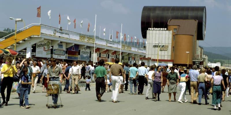 Dostihové závodiště ve Slušovicích v červenci 1989