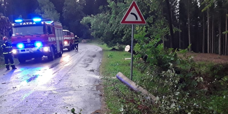 Následky bouřky v Jihomoravském kraji