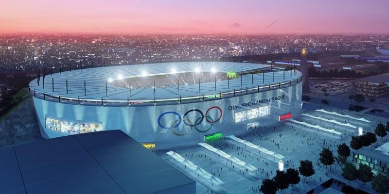 Vizualizace olympijského stadionu v Praze