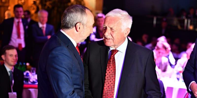 Exprezident Václav Klaus se svým synem Václavem Klausem ml.