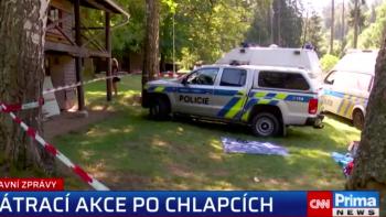 Policie nalezla za jezem na Sázavě tělo jednoho z pohřešovaných chlapců