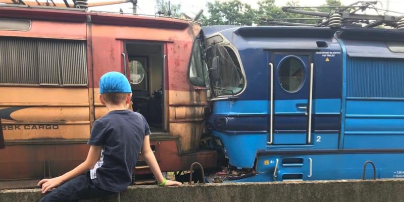 Srážka vlaků v Jihlavě.