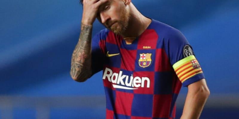 Lionel Messi během blamáže s Bayernem Mnichov