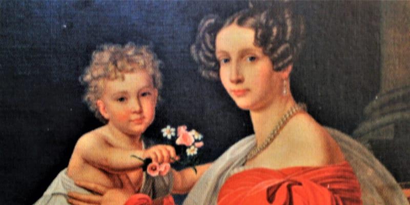 Malý František Josef s matkou Žofií