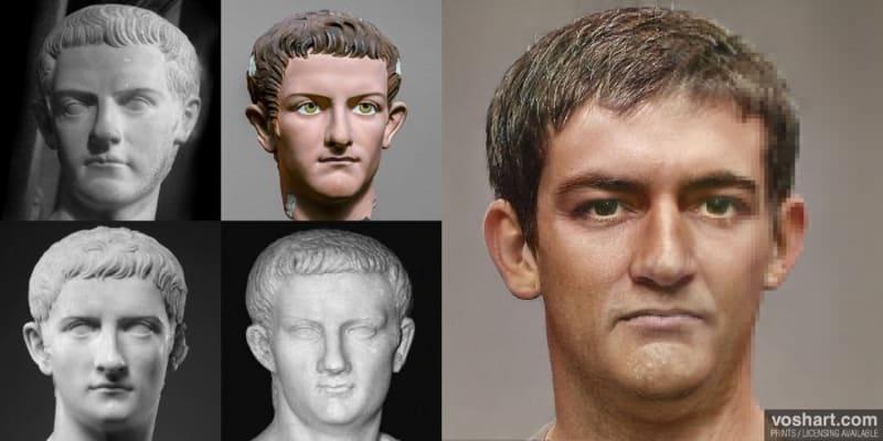 Druhá verze Caliguly. Dle historiků totiž nebyl příliš hezkým a navíc měl deformované části těla. Caligula proslul coby jeden z nejšílenějších panovníků nejen Římské říše, ale i v dějinách lidstva. Údajně měl páchat incest se svojí sestrou i matkou, svého koně pak jmenoval senátorem.