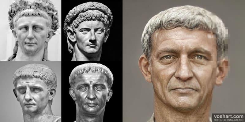 Císař Claudius nastoupil po smrti Caliguly. Podle jedné z verzí jej císařem prohlásila prétoriánská garda poté, co zavraždili Caligulu. Claudius se při palácovém atentátu na svého předchůdce měl schovávat mezi záclonami.