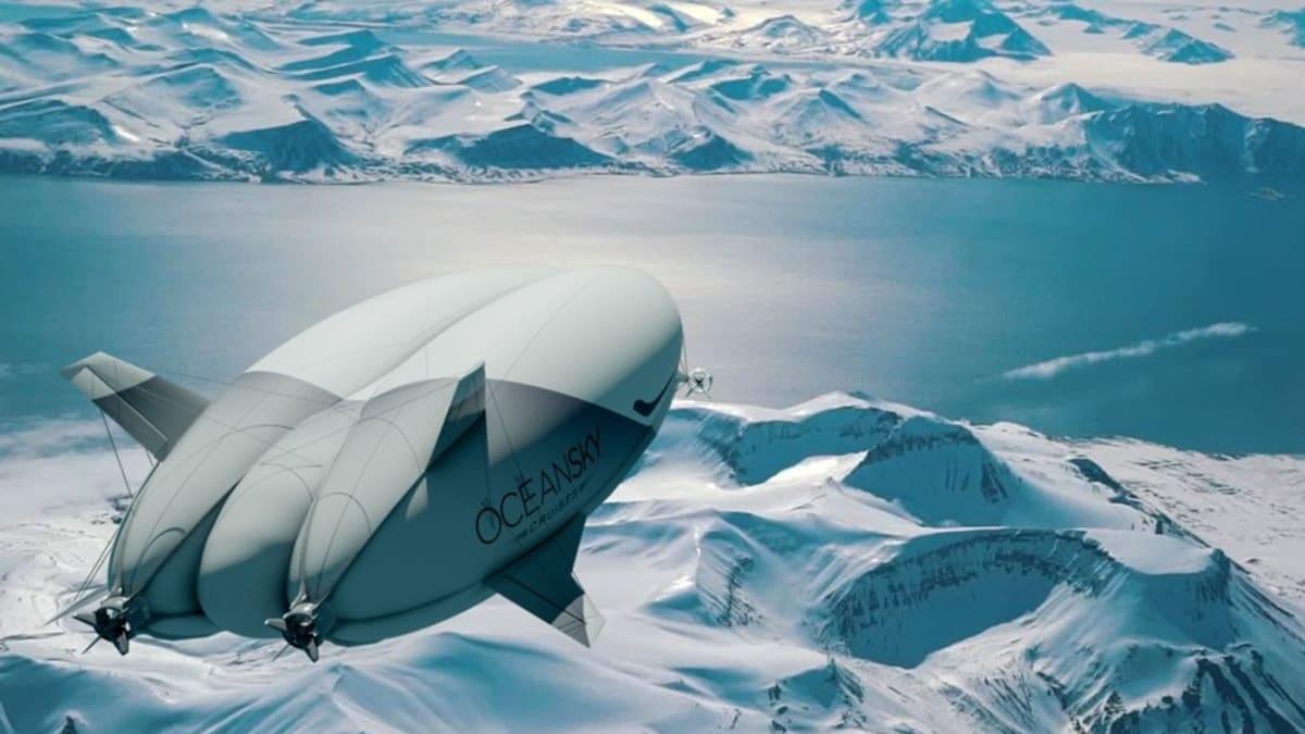 Společnost OceanSky Cruises plánuje, že se vzducholodí lidé brzy dopraví na severní pól.