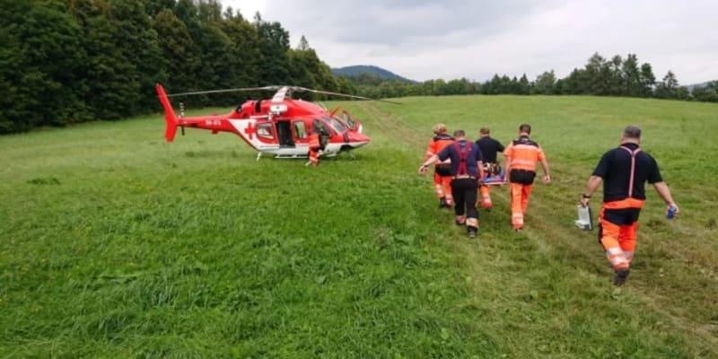 Horská služba Jeseníky v pátek zasahovala u zraněného čtrnáctiletého chlapce.