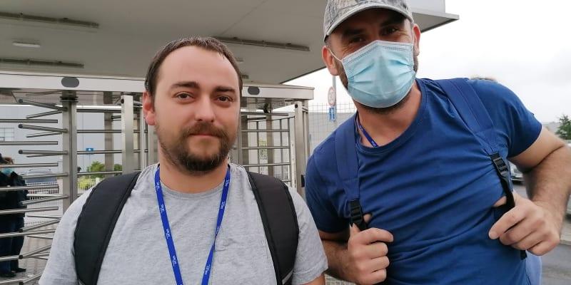 Tomáš Kozel a Vladimír Kounek, zaměstnanci automobilky Hyundai.