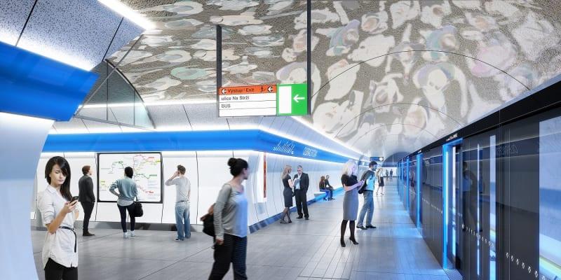 Stanice Olbrachtova na nové lince metra D