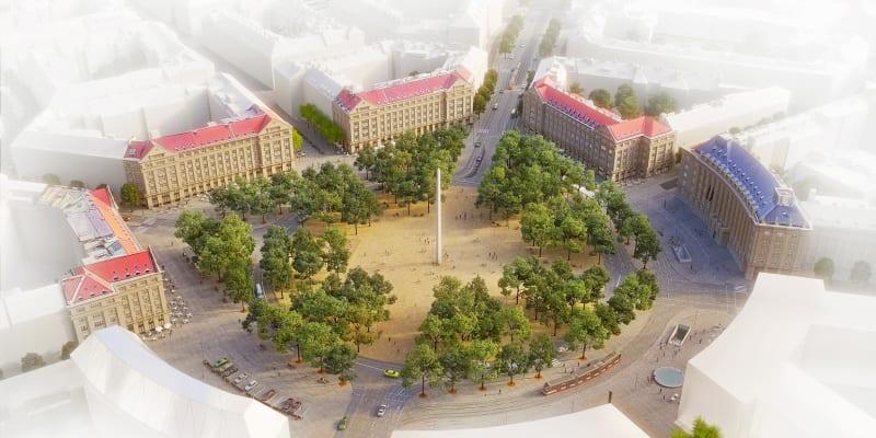 Budoucí podoba Vítězného náměstí v Dejvicích