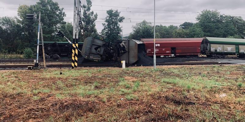 Na Teplicku došlo k nehodě nákladního vlaku.