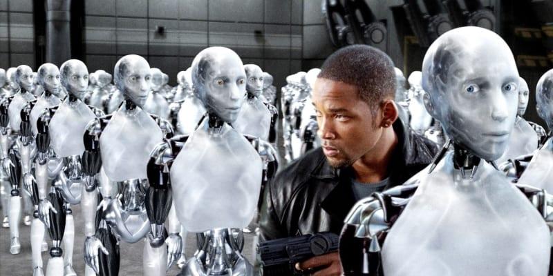 Will Smith v hlavní roli filmu Já, robot, který byl inspirován literárním dílem Isaaca Asimova.