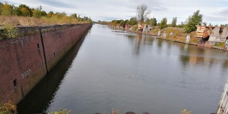 Opuštěný a zničený přístav Kędzierzyn-Koźle