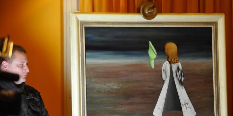 V roce 2009 se za rekordních 20 milionů korun vydražil excelentní obraz od Toyen Spící.