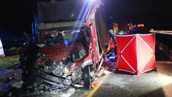 Řidič na dálnici couval k benzínové pumpě, druhý do něj narazil a na místě zemřel