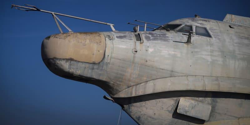 Detail kabiny Ekranoplanu neboli kaspické mořské příšery
