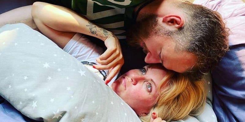 Selfie s manželem z porodnice