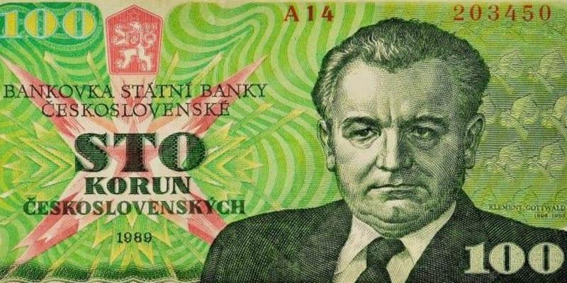 Bankova s Klementem Gottwaldem se do oběhu paradoxně dostala jen krátce před sametovou revolucí.