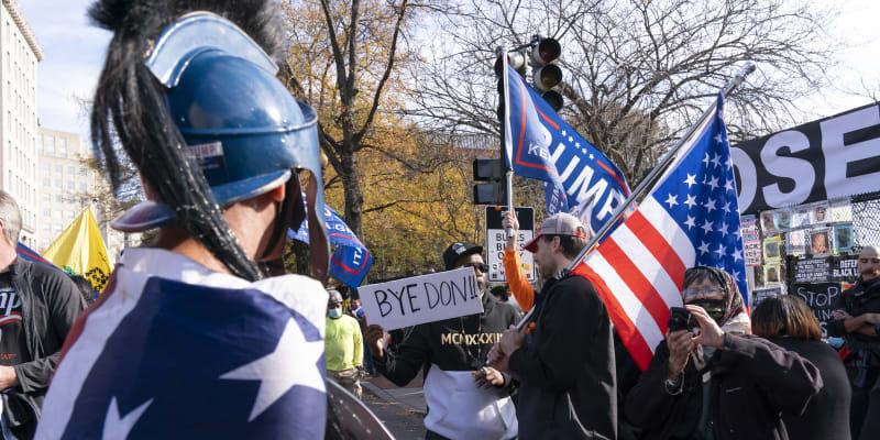 Podporovatelé Donalda Trumpa protestují ve Washingtonu