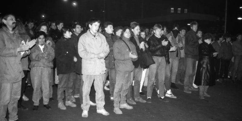 Teplické ekologické demonstrace v listopadu 1989