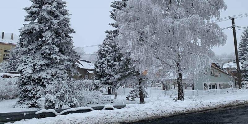 Na některých místech republiky napadly centimetry sněhu.